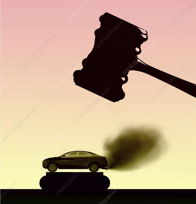Environmental law, conceptual illustration