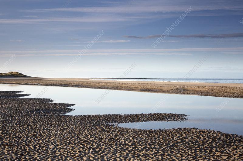 Tranquil seascape view ocean beach