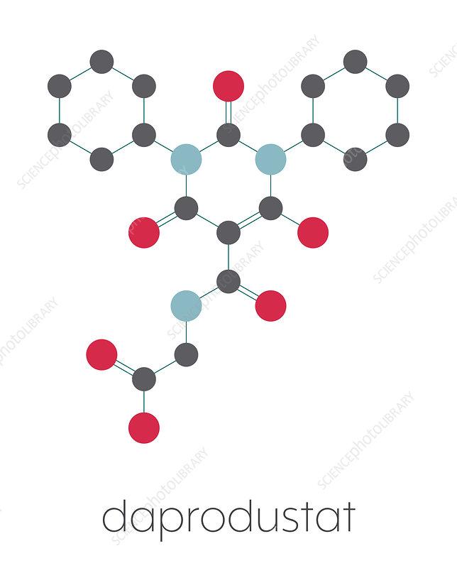 Daprodustat drug molecule, illustration