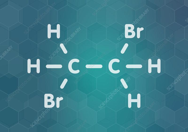 Ethylene dibromide fumigant molecule, illustration