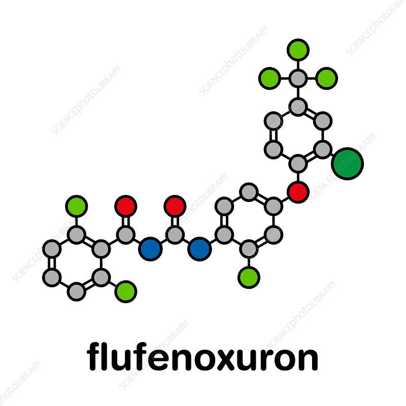 Flufenoxuron insecticide molecule, illustration