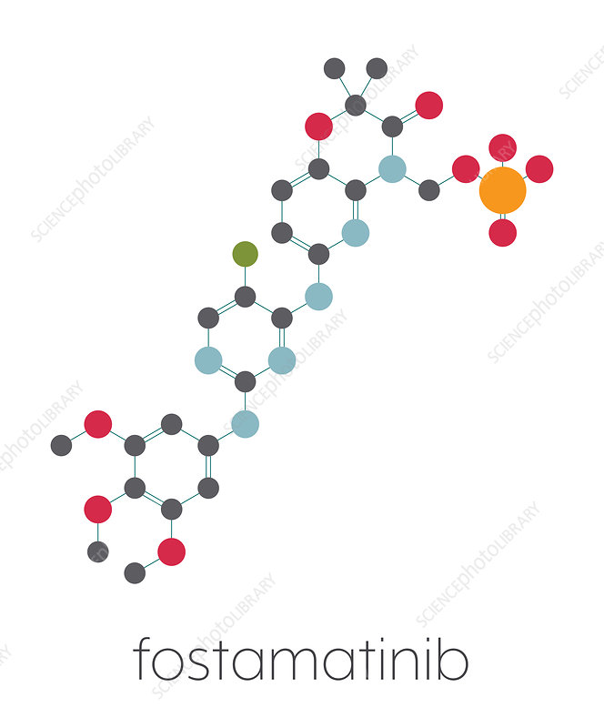 Fostamatinib rheumatoid arthritis drug, illustration