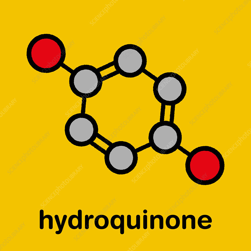 Hydroquinone reducing agent molecule, illustration