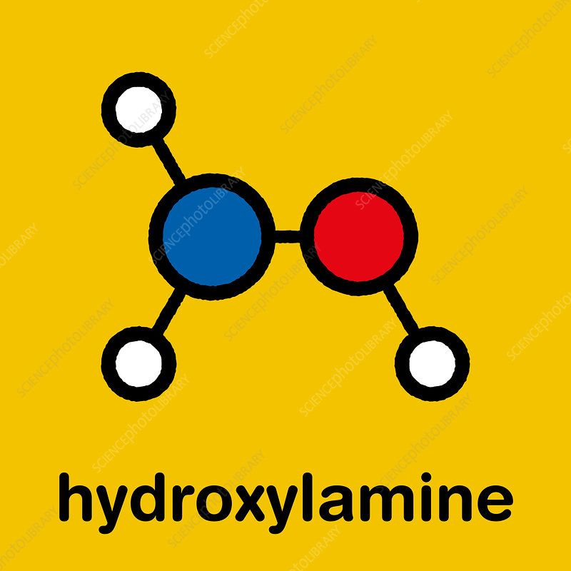 Hydroxylamine molecule, illustration