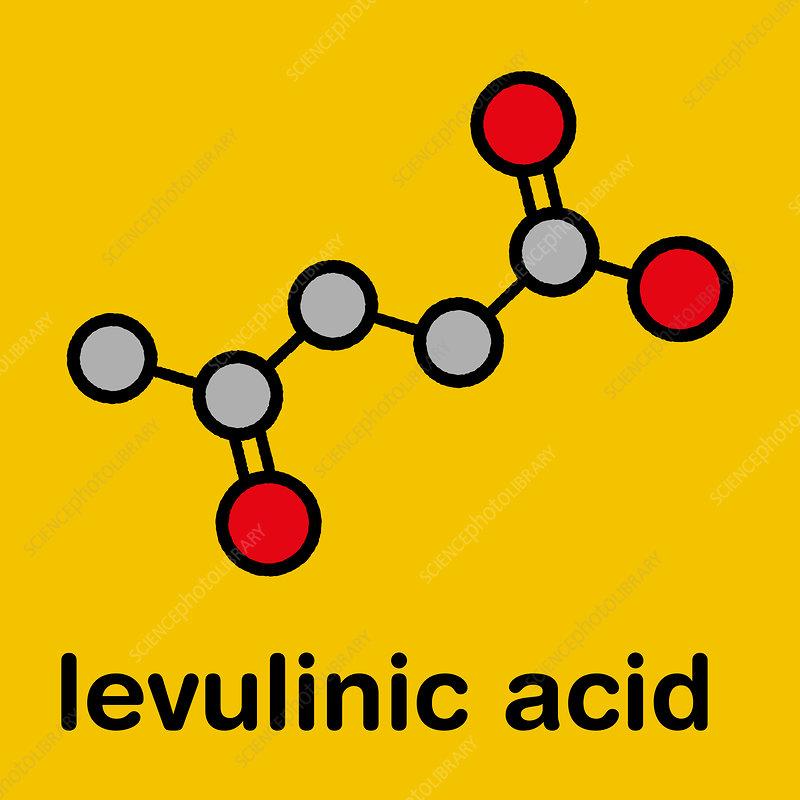 Levulinic acid molecule, illustration