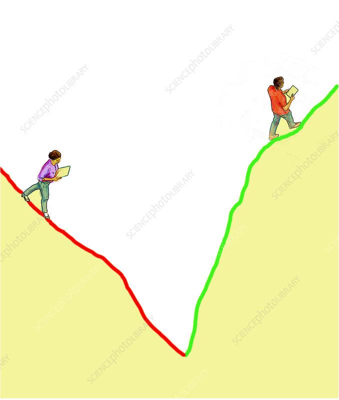 Gender inequality, conceptual illustration