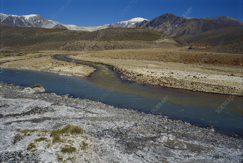 Rivers in the High Andes