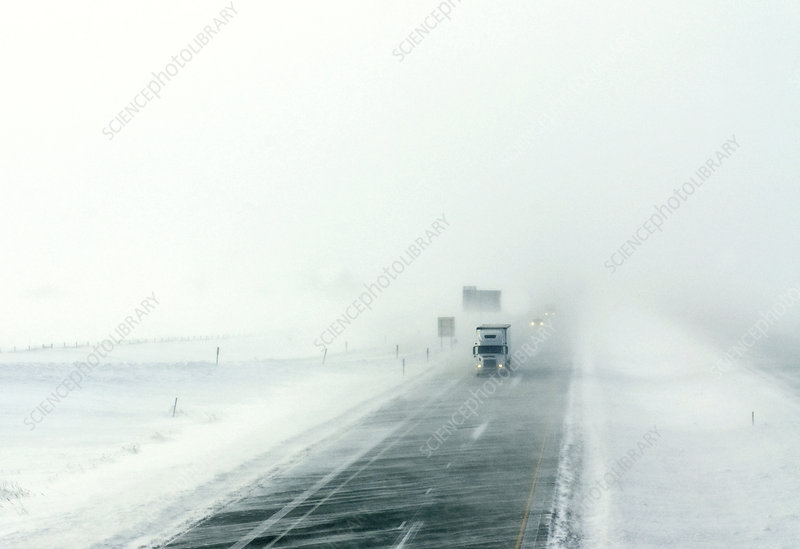 Fighting a crosswind in blizzard