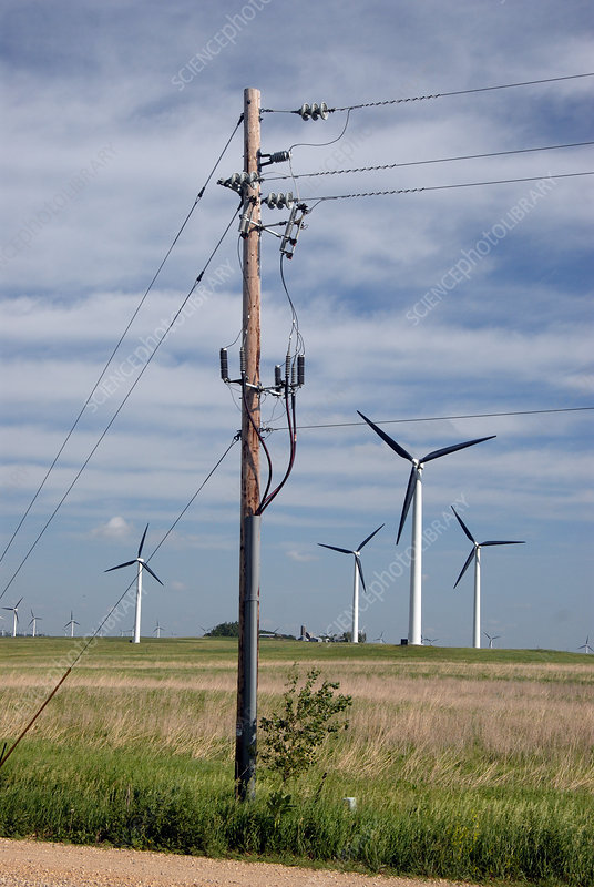 Wind Turbines and Power Line