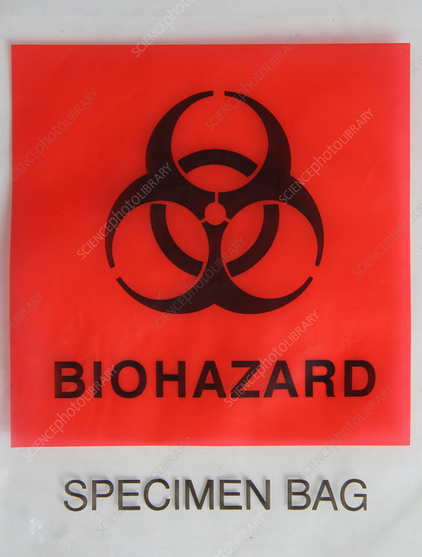 Biohazard Warning on Specimen Bag