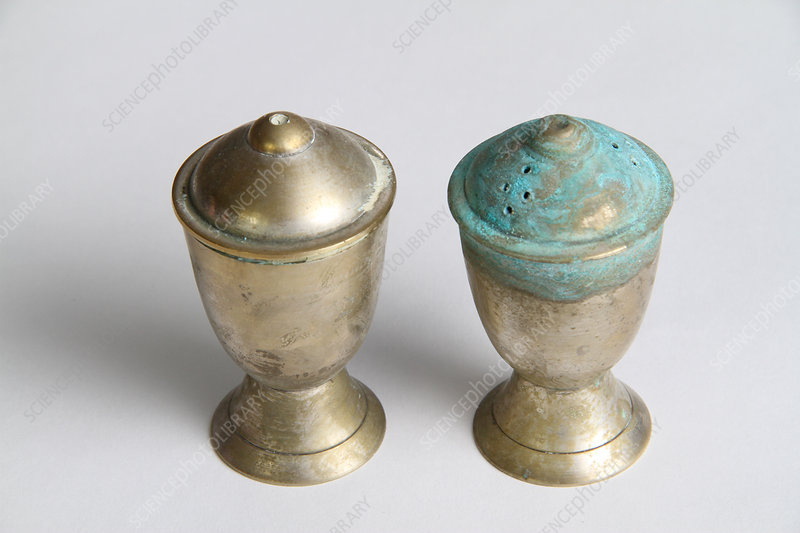 Corroded salt & pepper shakers