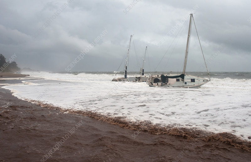 Storm-wrecked Sailboats