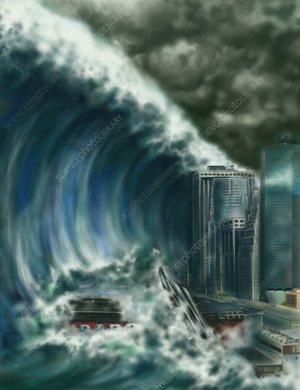 Tsunami, Illustration