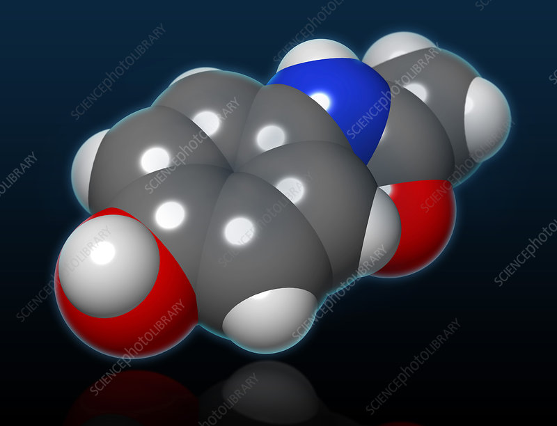 Acetaminophen Molecule, illustration