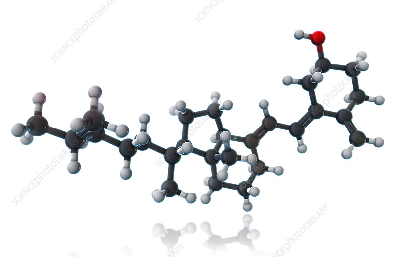 Vitamin D3, Molecular Model, illustration