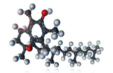 Vitamin E, Molecular Model, illustration