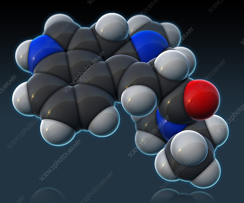 LSD Molecular Model, illustration