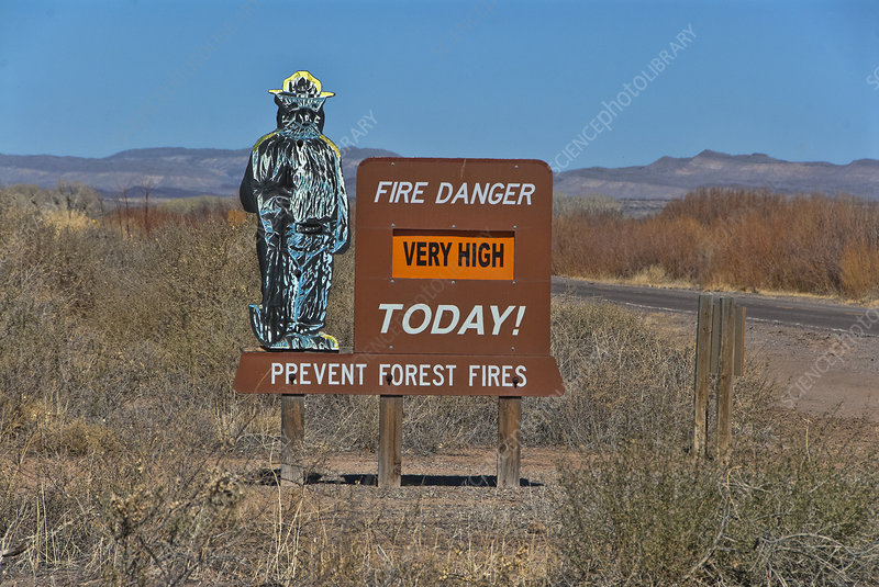 Fire Prevention Sign, NM