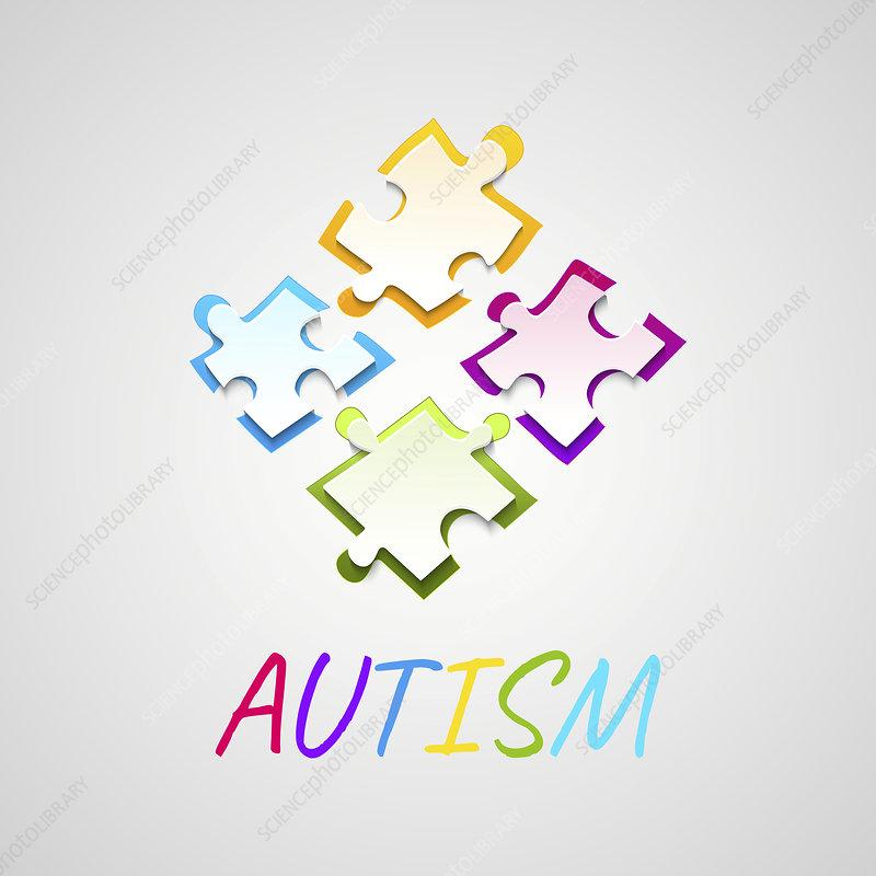 Autism, conceptual illustration
