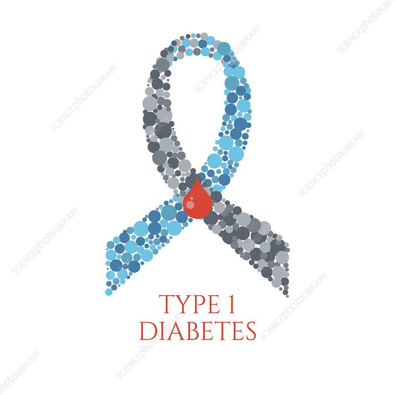 Diabetes type 1, conceptual illustration