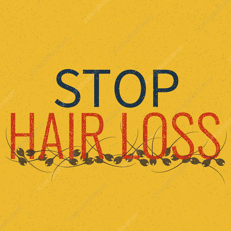 Hair loss, conceptual illustration