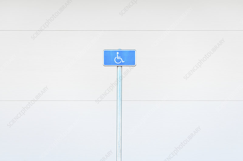 Disabled parking street sign