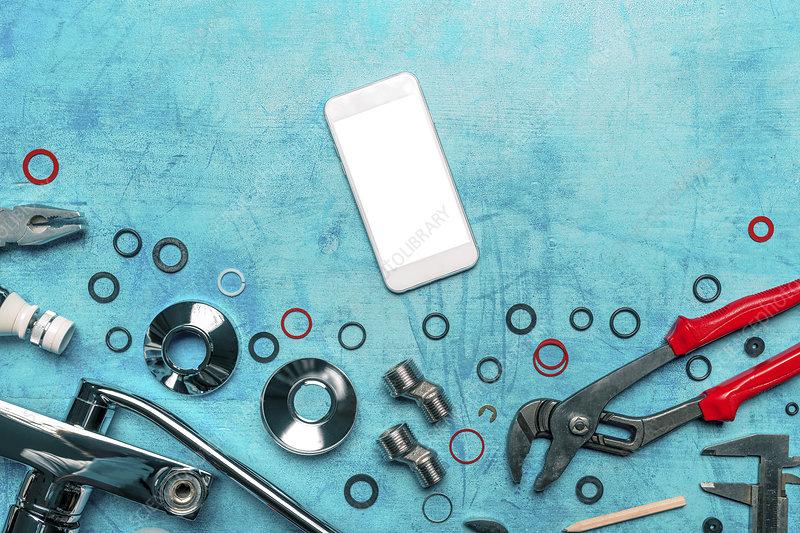 Plumbing app, conceptual image