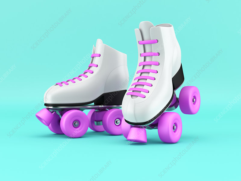 Roller skates, illustration