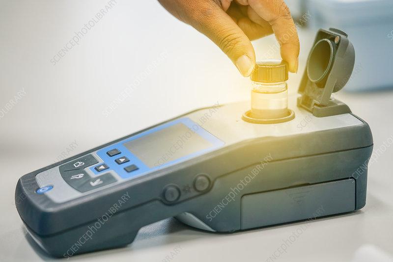 Spectrophotometer analysis