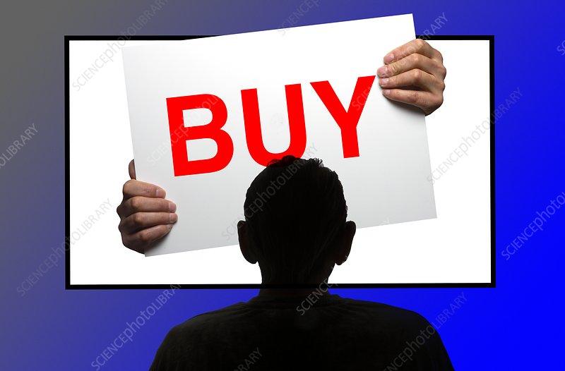 Advertising, conceptual composite image