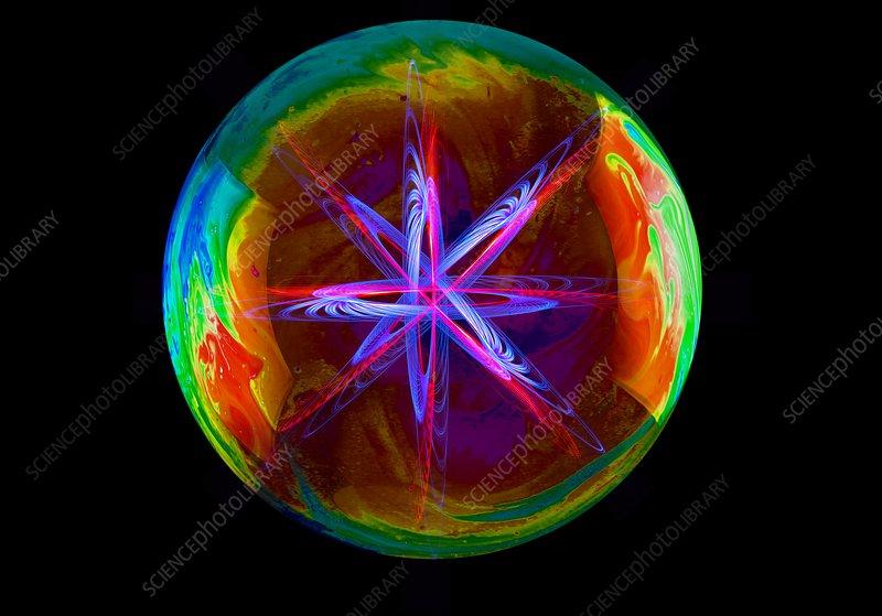 Particle physics, conceptual image