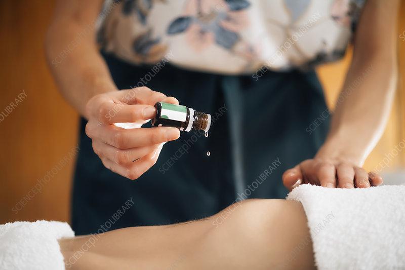 Ayurvedic aromatherapy oil massage