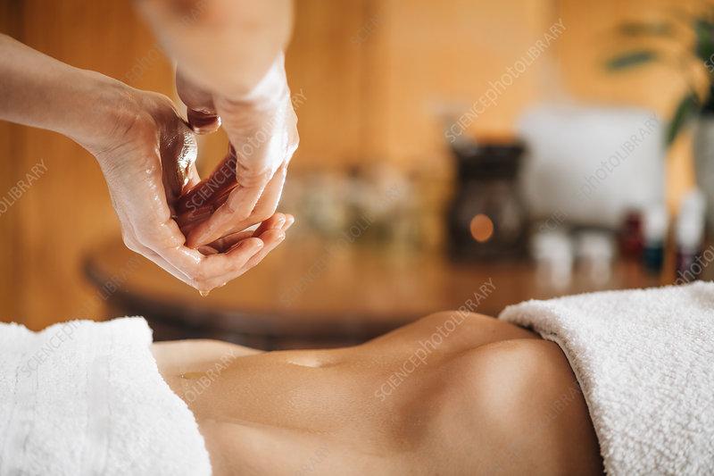 Ayurveda stomach massage