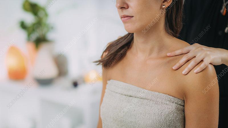 Ayurveda massage treatment with essential oils