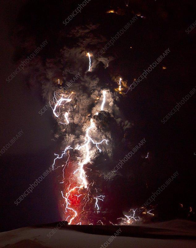 iceland volcano lightning. Volcanic lightning, Iceland