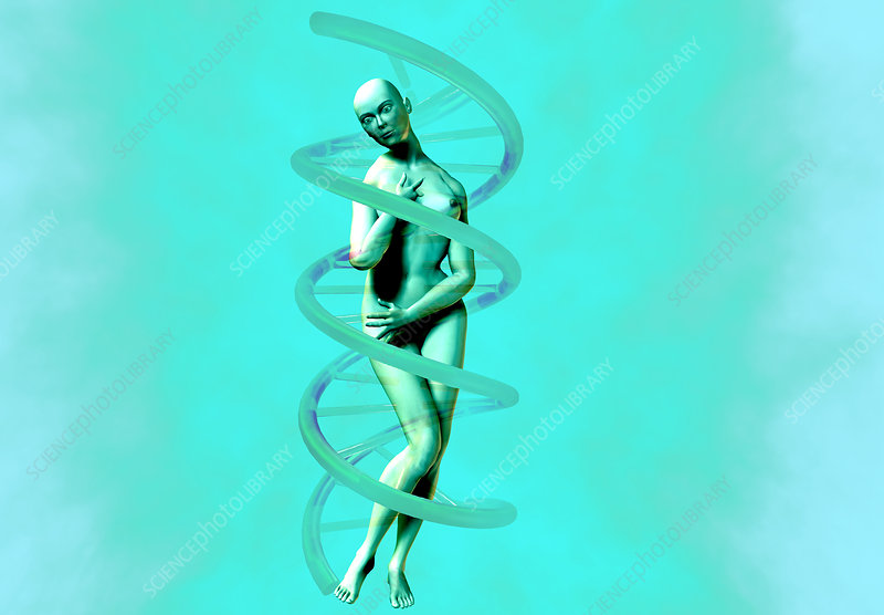 Woman and DNA