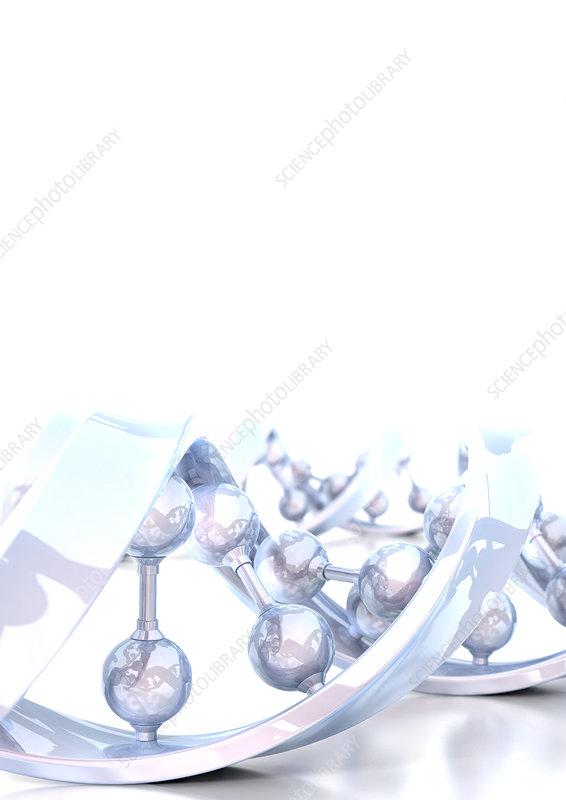 DNA molecule, computer artwork
