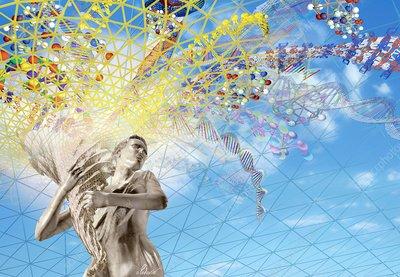 Spread of knowledge, conceptual artwork