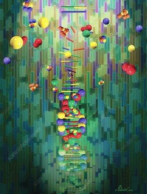 Mapping a genome, conceptual artwork