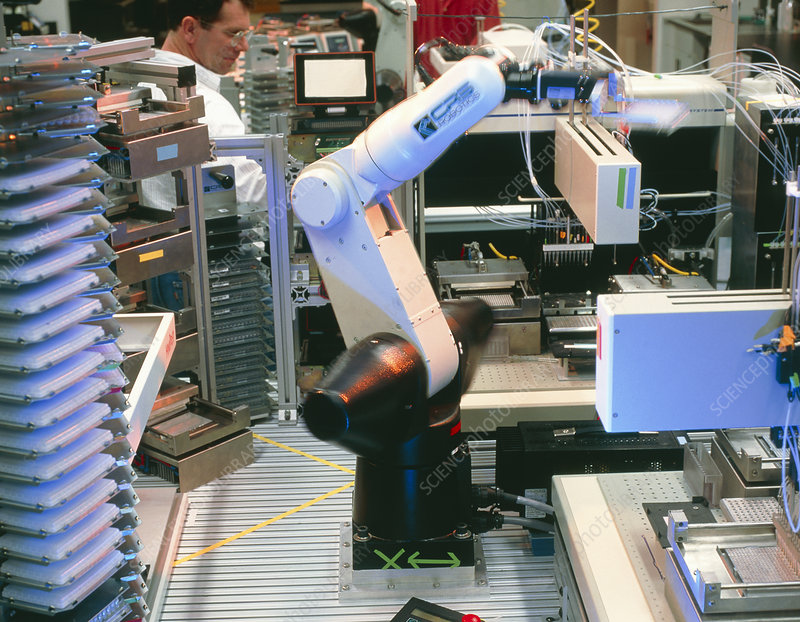 Robot arm used for DNA sequencing
