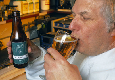 Genetically engineered beer: drunk by researcher