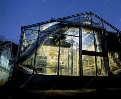 Greenhouse used for plant culture for Ecotron