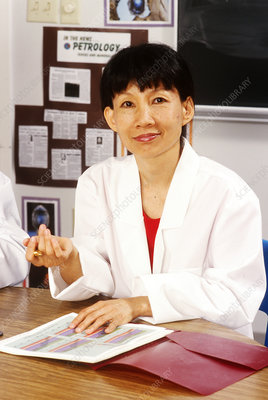 Asian Female Scientist