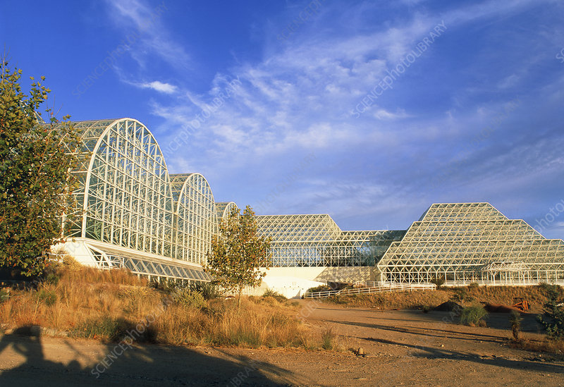 External view of Biosphere 2, an ecology experimnt