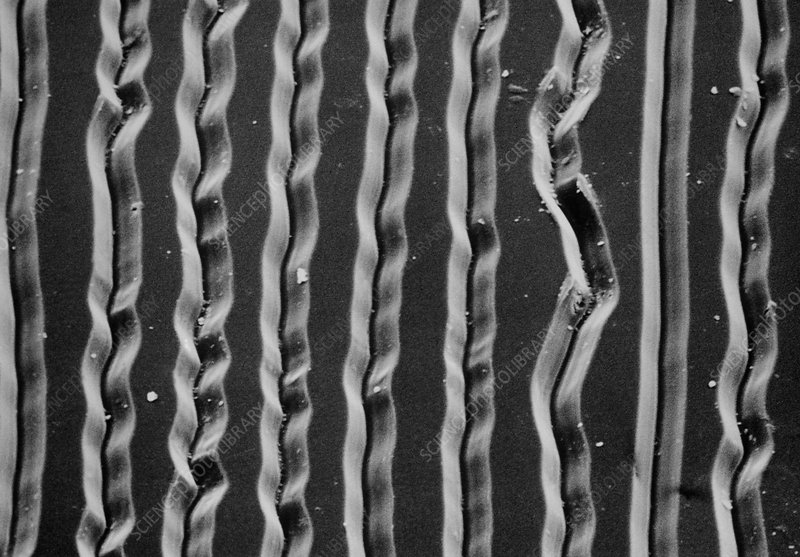 Sem Of Grooves In Lp Record Stock Image H100 0099