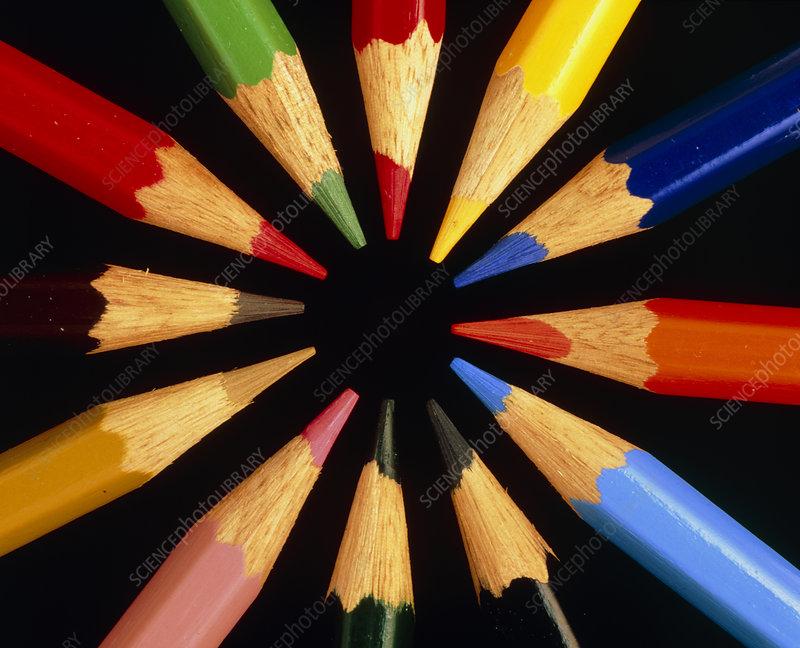 A multicolour assortment of pencils