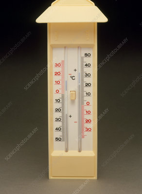 Six's Maximum and Minimum Thermometer - Stock Image H100 ...