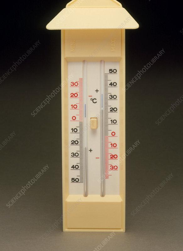 Six S Maximum And Minimum Thermometer Stock Image H100