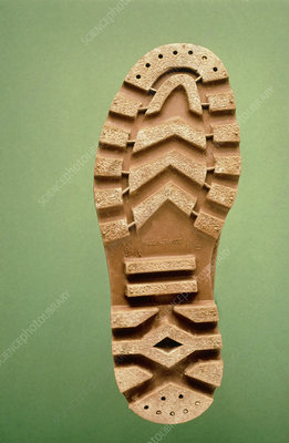The sole of an antiskiding walking shoe