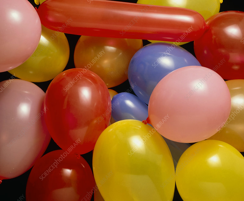 Assortment of coloured balloons